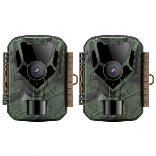 KF KF-301 verde escuro 16 MP / 0,4 segundos de início, 1 câmera de visão noturna infravermelha de caça e caça PIR HD à prova d'água externa PIR HD no site oficial da venda (2pcs)