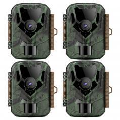 """Wildlife Camera,1080p Night Vision Upp Till 66ft, 2.0"""" Color LCD, Designad För Observation Av Vilda Djur/TRädgård Och Hemsäkerhet (4 St)"""