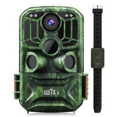 KF KF-401F caméra de piste WiFi 5 millions de capteurs 24MP 1296P HD surveillance de la faune en plein air caméra de chasse à Vision infrarouge nocturne étanche