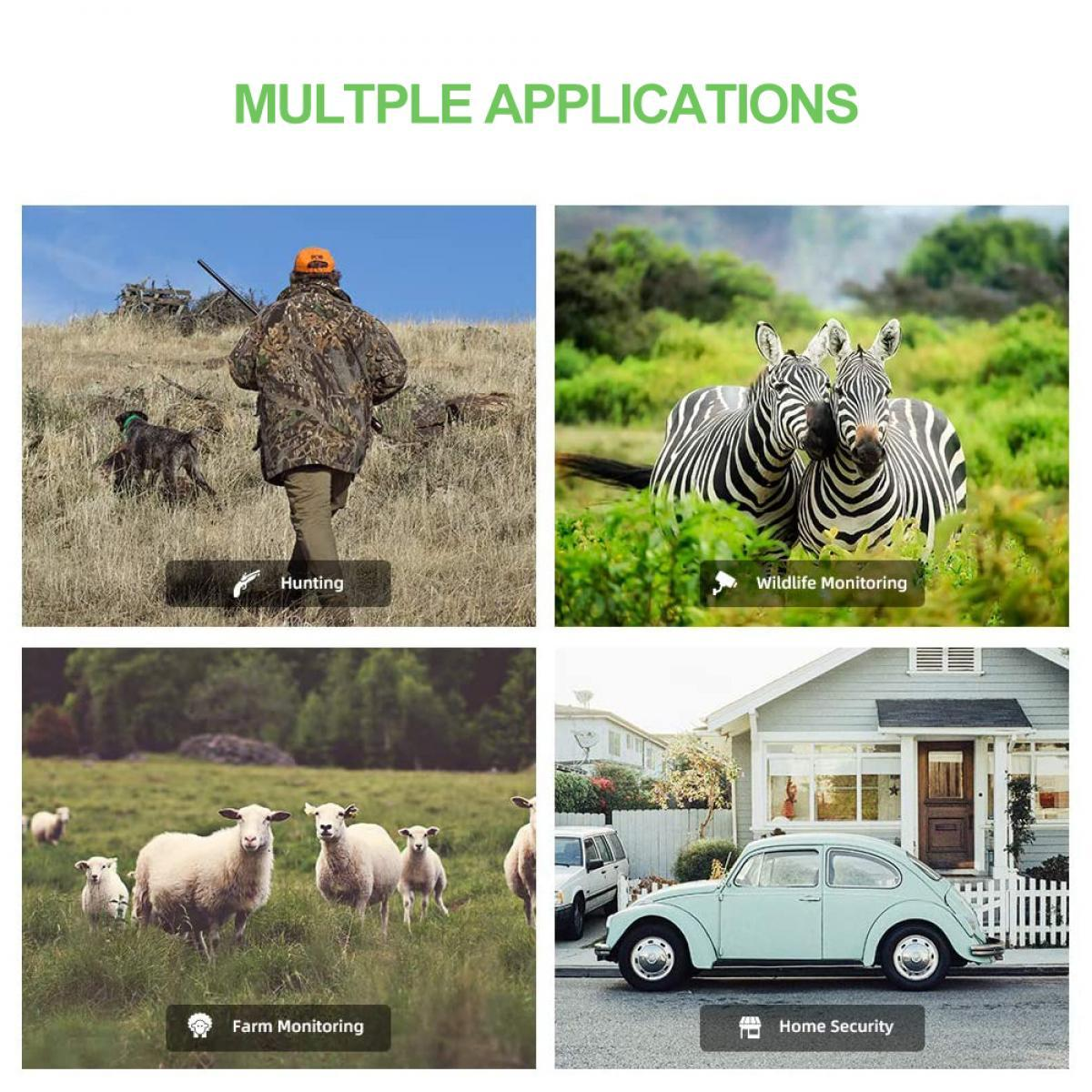 K & F KF-401F WiFi Trail Camera 5 Miljoen Sensor 24MP 1296 P HD Outdoor Wildlife Monitoring Waterdichte Nacht Infrarood Vision jacht Camera