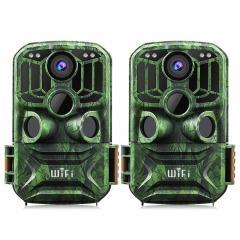 KF KF-401F Vert foncé 5 millions de capteurs 24MP / 0,4 secondes de démarrage, 3 PIR, transportant la fonction WIFI HD Chasse et chasse infrarouge étanche en plein air Caméra de vision nocturne infrarouge Site officiel à vendre (2pcs)