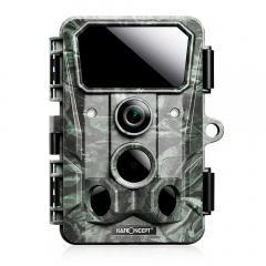 Caméra de jeu tout-terrain 4K 30MP, caméra tout-terrain Bluetooth Wi-Fi sans fil, caméra de jeu à angle de 120 °, vision nocturne claire à déclenchement 0.2S, avec 850nm 36 lumières infrarouges 65 pieds, caméra de faune étanche IP65 (vert)