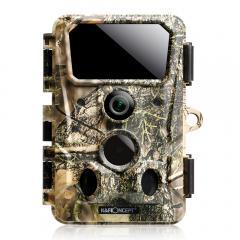 Caméra de jeu tout-terrain 4K 30MP, caméra tout-terrain Bluetooth Wi-Fi sans fil, caméra de jeu à angle de 120 °, vision nocturne claire à déclenchement 0.2S, avec 850nm 36 lumières infrarouges 65 pieds, caméra de faune étanche IP65 (jaune feuille morte)