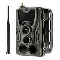 LTE 4G mobil spårningskamera 30MP 4K trådlös kamera för djurövervakning 3 PIR120 ° detekteringsområde HD utomhus vattentät jakt infraröd nattkamera (europeisk standard)