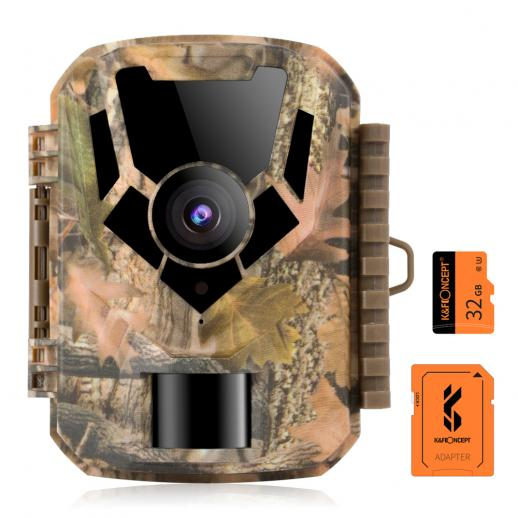 1080P Trail Camera with 32GB SD Card 0.4s Trigger Time HD Outdoor Waterproof Game Camera Infrared Night Vision