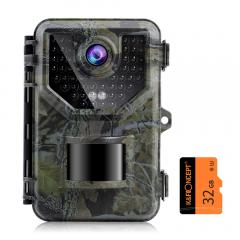 Caméra de suivi 2.7K 20MP Vitesse de déclenchement rapide 0.2s Caméra de chasse étanche et robuste IP66 avec une large plage de flash de 120 ° pour la surveillance de la faune + carte mémoire SD 32 Go gratuite