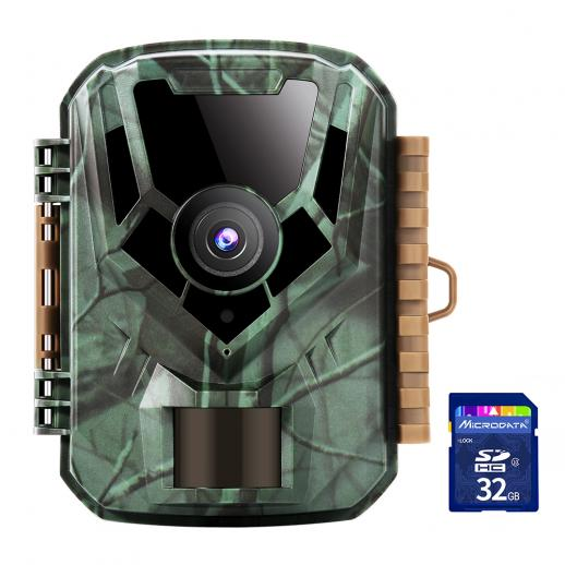 """1080P Night Vision Trail Camera , 2.0"""" Color LCD , Design for Wildlife Observation/Garden Home Security(with 32GB SD Card)"""