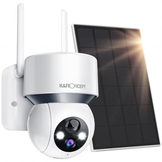 1080P Solar Wireless WiFi Security Cameras Outside for Home Security Outdoor Camera with Audible and Visual Alarm (Battery Version)