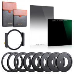 K&F Concept SNJ51T Square ND1000 + GND8 + Set de supports de filtre carré en métal