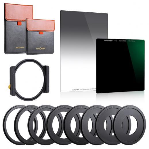 K & F Concept SNJ51T Vierkant ND1000 + GND8 + Metall Quadrat Quadrat Filterhalter Set