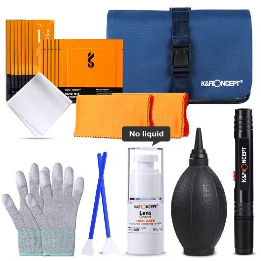 K&F Paquete de kit de limpieza profesional para cámaras DSLR y componentes electrónicos sensibles
