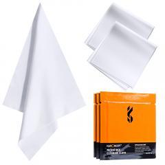 Ensemble de chiffons de nettoyage aiguille un chiffon de nettoyage sans poussière chiffon sec blanc 15*15cm CPE avec 3 pièces