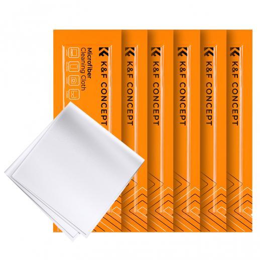 Set de chiffons de nettoyage aiguille un chiffon de nettoyage sans poussière chiffon sec blanc 15*15cm boîte de couleur 6 pièces