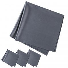 Cleaning cloth set needle one dust-free cleaning dry cloth for Electronics, dark gray, 4 pieces, 40.6*40.6cm , opp bag packaging