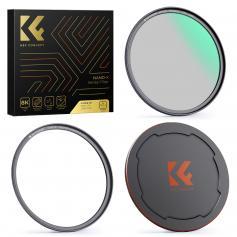 72mm Nano-X-CPL Magnetyczny Filtr Obiektywu do DSLR, Wodoodporny HD, Odporny na Zarysowania, Antyrefleksyjny, Z Osłoną Obiektywu i Pierścieniem Pośrednim
