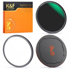 49MM, NANO-X-ND64 magnetic filter, high-definition, coated with waterproof, scratch-resistant, anti-reflection green film, with magnetic attachment ring and magnetic metal cover