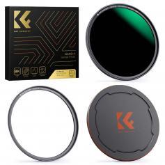 82mm Nano-X-ND1000 Magnetyczny Filtr Obiektywu do DSLR, Wodoodporny HD, Odporny na Zarysowania, Antyrefleksyjny, Z Osłoną Obiektywu i Pierścieniem Pośrednim