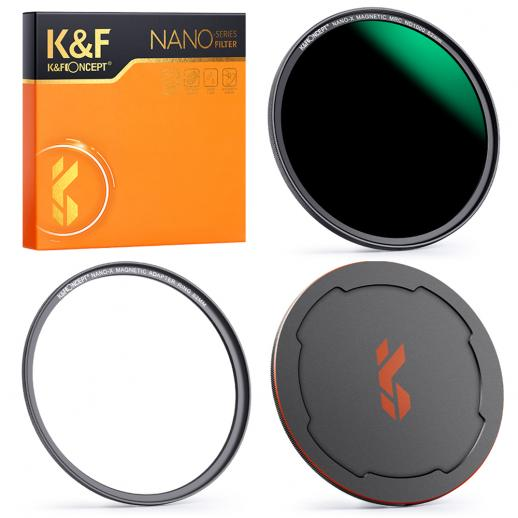 82mm Magnetic ND1000 Filter Kit +Adapter Ring+ Alloy Lens Cap, 10 stops Quick Switch Converters Systerm Optical Glass Case