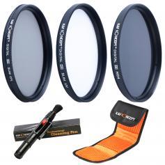 77mm UV, CPL, ND4 Filtr Zestaw