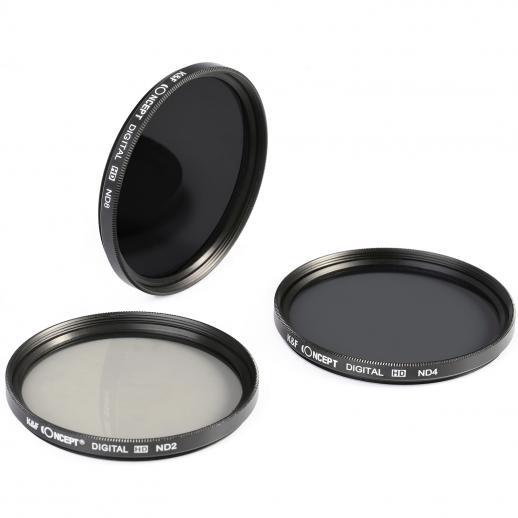 62mm ND2, ND4, ND8 ND Filterset