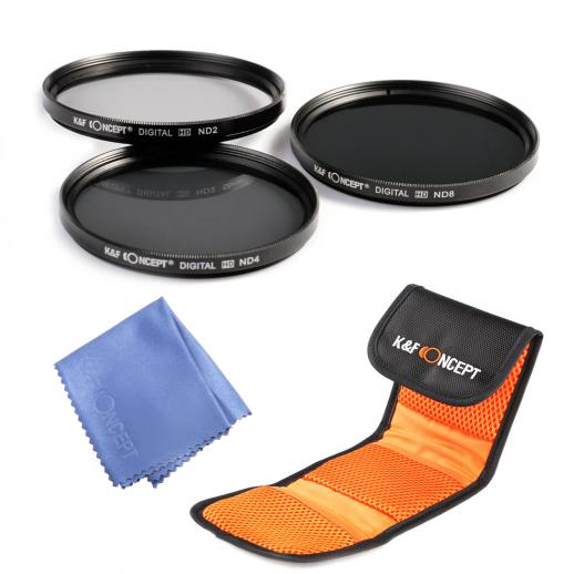 72mm ND2, ND4, ND8 Filtro Kit