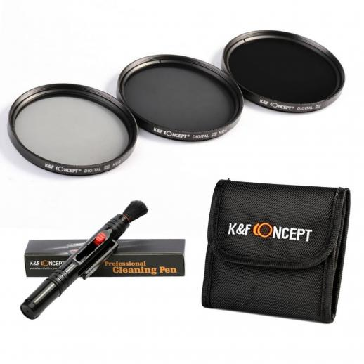 77mm ND2, ND4, ND8 Filtro Kit