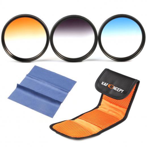 58mm Oranje, Blauw, Grijs Filterset