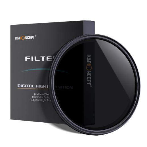 K&F KV31 58 mm ND2 naar ND400 Variabel ND-filter voor video