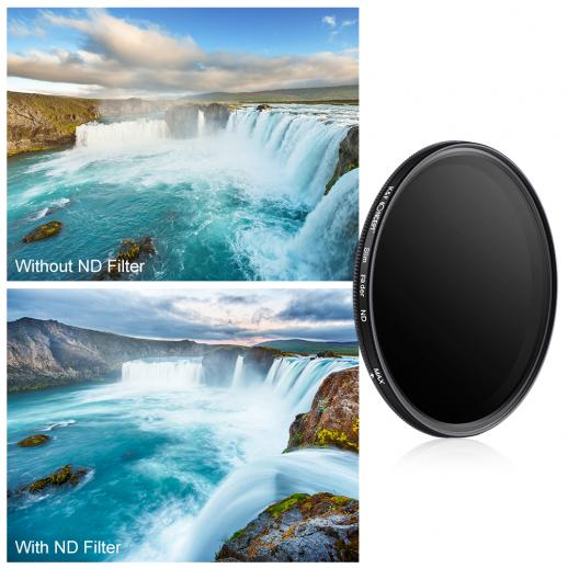 58mm ND2-ND400 Variabele ND-filter Neutrale Dichtheid
