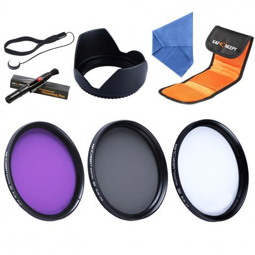 58mm UV, CPL, FLD Filtro Kit