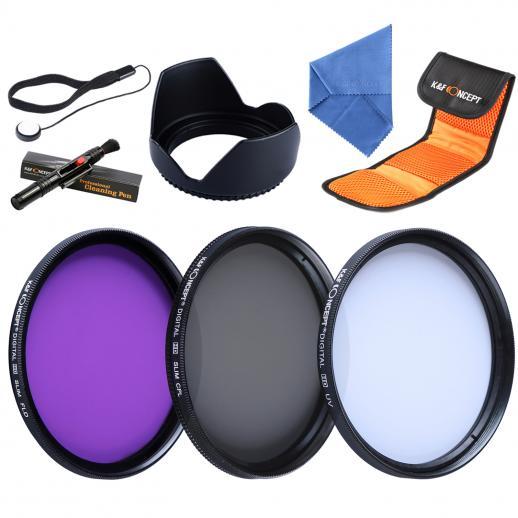49mm UV, CPL, FLD Filtro Kit