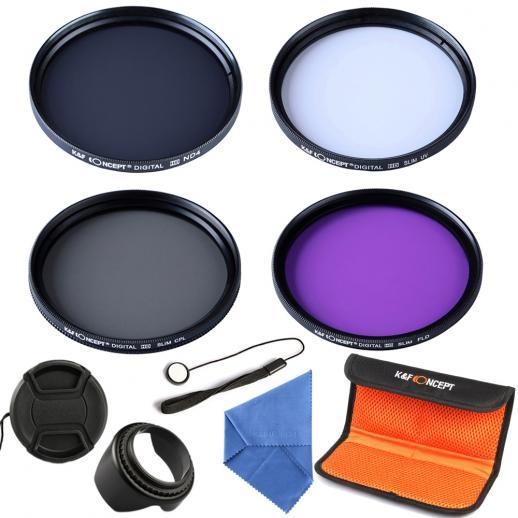 52mm UV, CPL, FLD, ND4 Filtro Kit