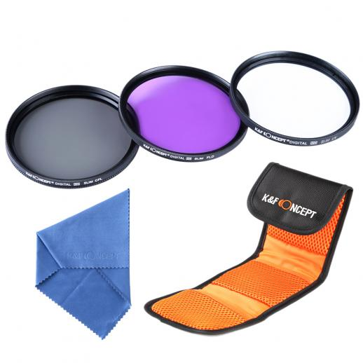 37mm UV, CPL, FLD Filtro Kit