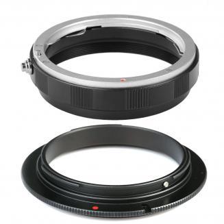 Alta Calidad EOS-58mm Anillo Adaptador de inversión Marco One para Canon EOS