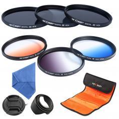 Zestaw filtrów 67 mm (ND2, ND4, ND8, stopniowany niebieski, pomarańczowy, szary)