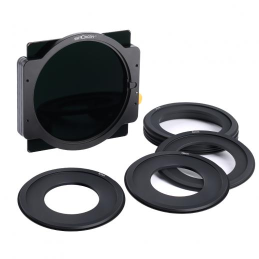 ND1000 vierkant filter 100x100mm + metalen houder + 7st-adapterringen
