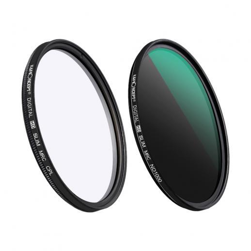 62mm Kit filtro obiettivo Densità neutra ND1000 Polarizzatore CPL per obiettivo professionale con rivestimento multiplo nano