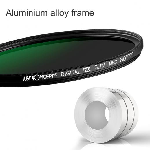 K/&F Concept 72mm Lens Filter Kit Neutral Density ND1000 CPL Polarizer for Professional Camera Lens with Multiple Layer Nano Coated