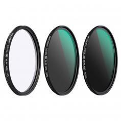 55mm linsfilterpaket Neutral Density ND8 ND64 CPLCcirkulär polarisator för professionell kameralins med flera lager Nano-belagd