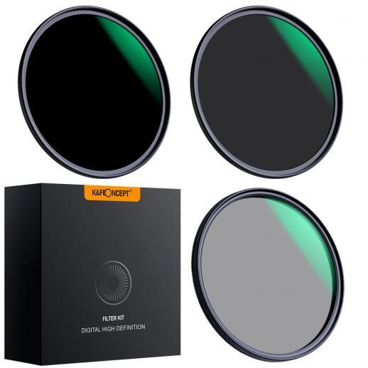 82mm lensfilterset neutrale dichtheid ND8 ND64 CPL circulaire polarisator voor professionele cameralens met meerdere lagen nano-coating
